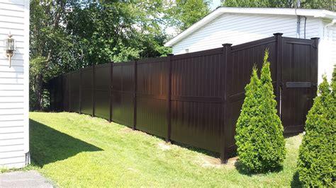 brown modern style vinyl fence pvc eco  maintenance garden materials vinyl fence
