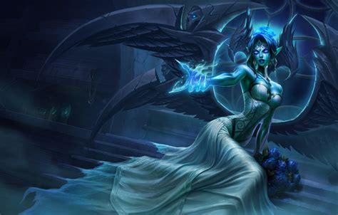 wallpaper light girl fantasy game magic wings