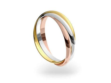 9ct 3 colour gold 2mm russian wedding ring sizes from f z ebay
