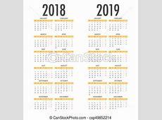 Semana, segundafeira, começa, anos, 2018, inglês, 2019