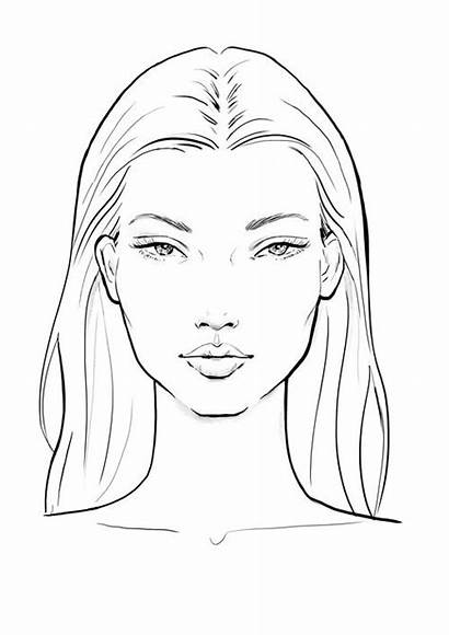 Face Sketch Drawing Sketches Template Illustration Faces