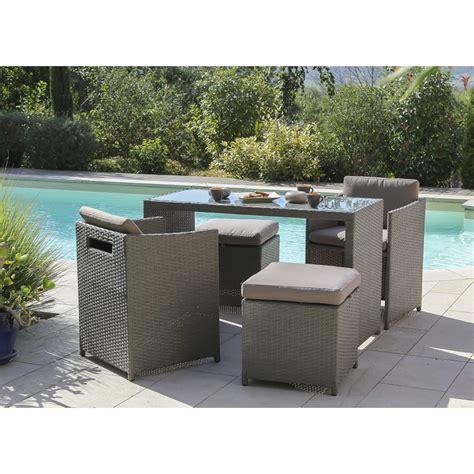 table et chaise de jardin carrefour salon de jardin foggia résine tressée gris 1 table 2
