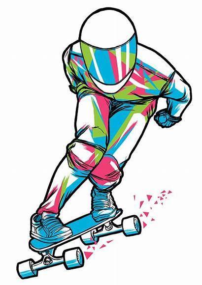 Longboard Clipart Skate Skateboard Transparent Longboarding Behance