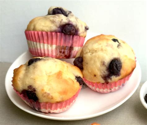 light and fluffy blueberry yoghurt muffins 95 calories