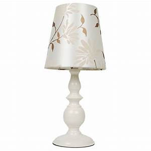 modern cream floral table light lamp with shade bedside With lamp light florist