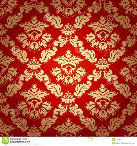 seamless pattern backgrounddamask wallpaper stock image