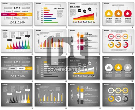 flat design diagrams set  powerpoint