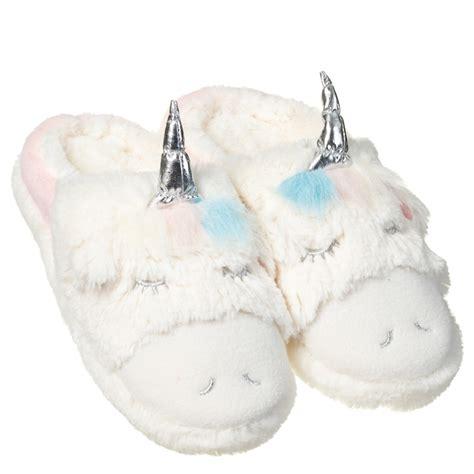 home design essentials unicorn slippers clothing b m