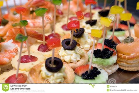 petit canapé canapé or petit four stock photo image 40180579