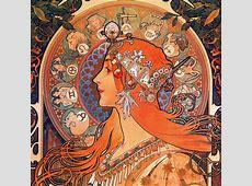 BEAUTIFUL PAINTINGS Alfons MUCHA Zodiac 1896