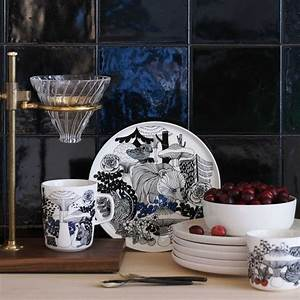 Teller Schwarz Weiß : veljekset teller 20 cm von marimekko ~ Eleganceandgraceweddings.com Haus und Dekorationen