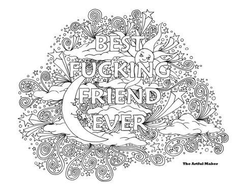 Bff Best Fucking Friend Ever Adult Coloring