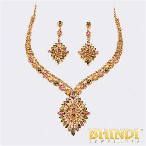 22k Yellow Gold Polki Necklace Set : Product Details