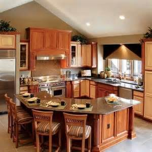 Kitchen With L Shaped Island Wood Octagon Bar Counter For The Home Woods