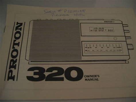 Proton Clock Radio by Proton 320 Am Fm Dual Alarm Clock Radio Owners Manual 1990