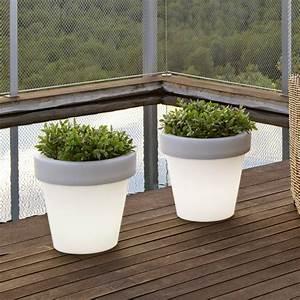 Pot Fleur Lumineux : pot de fleur lumineux ext rieur magnolia light ~ Nature-et-papiers.com Idées de Décoration
