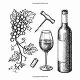 Crackers Cheese Wine Drawing Coloring Anti Adults sketch template