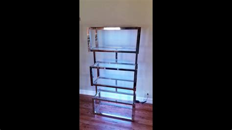 Milo Baughman Etagere With Custom Led Lighting