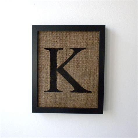 wall decor letters letter k burlap wall decor alphabet monogram