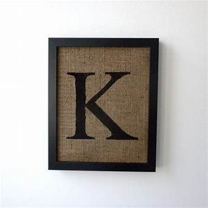 letter k burlap wall decor alphabet art monogram With wall art letters