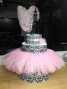 Paris themed diaper cake! Baby Shower Pinterest