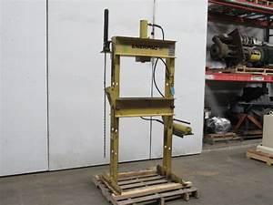 Enerpac 30 Ton Hydraulic H Frame Press Manual Pump Double