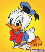 How to Draw Baby Donald Duck  Step by Step  Disney Characters      How To Draw Baby Disney Characters
