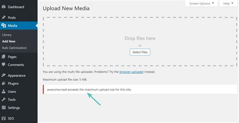 Wp Upload by How To Increase The Maximum Upload File Size