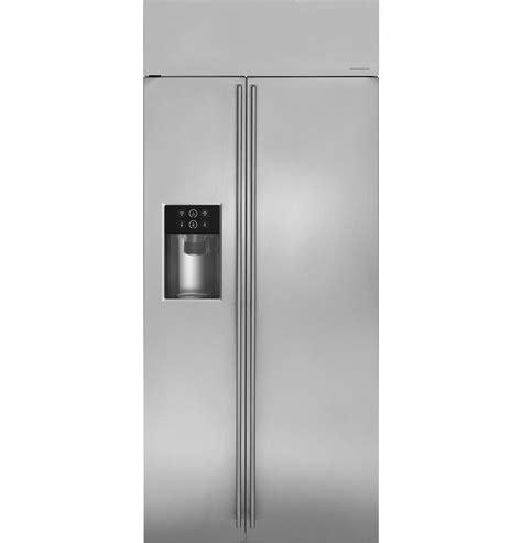 monogram  built  side  side refrigerator  dispenser zissdkss ge appliances