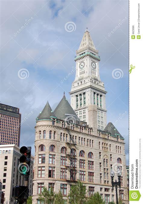 bureau de douane horloge de bureau de douane de boston image libre de