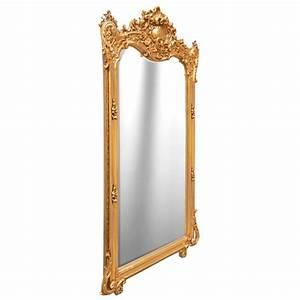 Grand Miroir Rectangulaire : grand miroir baroque rectangulaire dor ~ Preciouscoupons.com Idées de Décoration