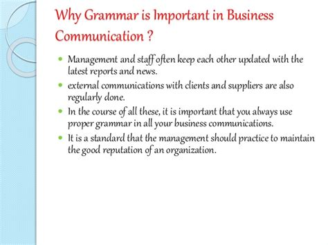 Is Grammar Important by Of Grammar In Communication