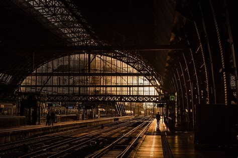 station tracks train  photo  pixabay