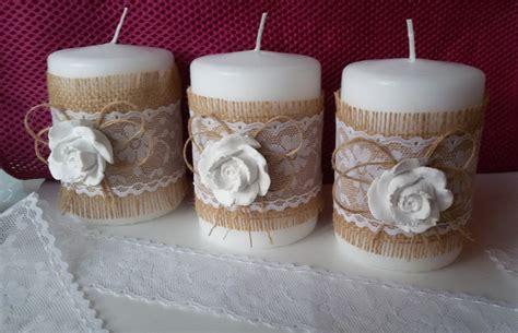 Come Decorare Le Candele by Candele Decorative Shabby Per La Casa E Per Te