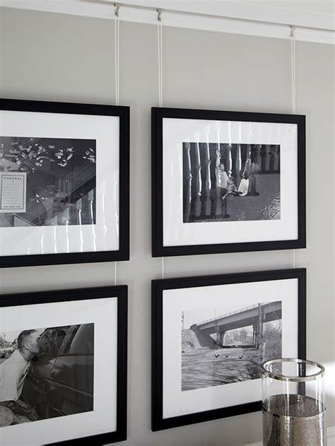 bonne id 233 e pour accrocher des cadres sur un mur non conventionnel black white gray and