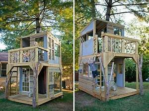 Gartenhaus Holz Kinder : modernes baumhaus selber bauen kinder spielt baumhaus ~ Watch28wear.com Haus und Dekorationen