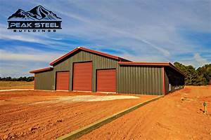 50x100 steel building metal warehouse peak steel With 50x100 pole barn