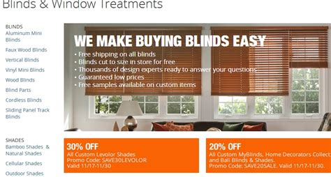 blinds promo code 75 home depot code save 20 in dec w promo