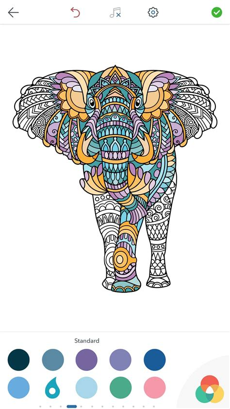 animal coloring pages  adults  android ios