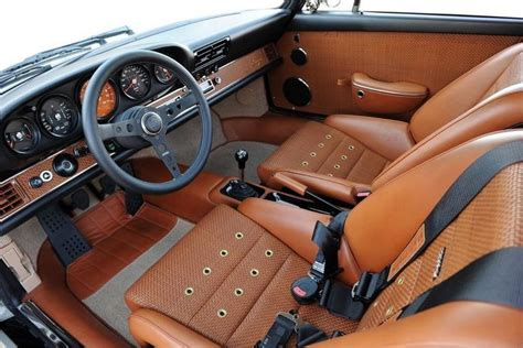 Custom Porsche Interior by Oatmeal Square Weave With A Black Interior Pelican
