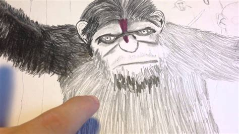Dawn Of The Planet Of The Apes Drawing