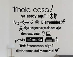 Vinilos, Con, Textos, Y, Frases, Divertidas, U0026quot, Hola, Casa, U0026quot, 04414