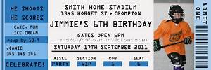 how to make ticket invitations for birthday parties With sports ticket template free download