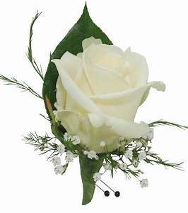 White Rose Boutonniere (CBBCLA02) – Flower Patch