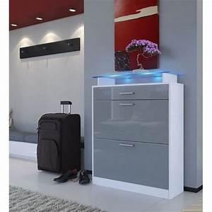 Meuble Chaussure Design : meuble rangement chaussures cdiscount ~ Teatrodelosmanantiales.com Idées de Décoration
