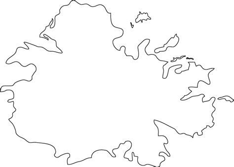 antigua  barbuda outline map