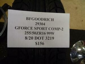 1 NEW BFGOODRICH GFORCE SPORT COMP2 255 50 16 99W TIRE WO ...