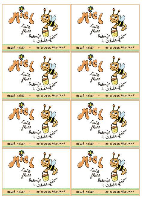 etiquettes pour pots de miel asapistra