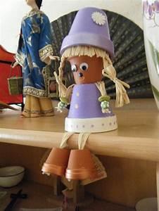 Creation Avec Des Pots De Fleurs : personnage en pot de terre cuite bricolage pinterest ~ Melissatoandfro.com Idées de Décoration