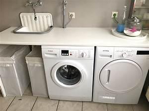 Waschmaschine Unter Arbeitsplatte : willkommen in meiner waschk che die hausmutter ~ Frokenaadalensverden.com Haus und Dekorationen